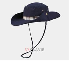 Guangzhou supplier blank cotton safari hat with twill binding