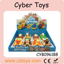 2015 new Friction power moving cartoon train with animal train toy for sale