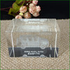 Unique 3D crystal wedding gift, 3d laser crystal paperweight as wedding souvenir