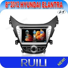 2012 New Hyundai Elantra 8 icnh 2 din car dvd player with gps/bluetooth/ipod/camera/ubs/mp4/mp3