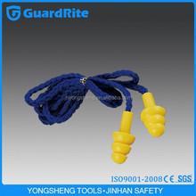 GuardRite Brand Silicone Gel Earplug With Plastic/ Nylon Cord Swimming Ear Plugs
