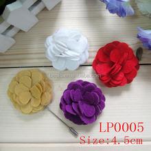fashion cheap wholesale small size custom felt mes lapel flower for men boutonniere