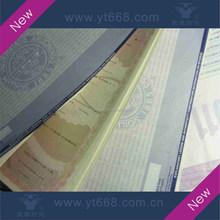 UV Invisible logo anti-copy university certificate
