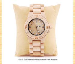 fashion vogue ladies watch liquidation sale/wooden wrist lady watch