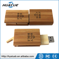 Best Selling 2GB 4GB 8GB 16GB Book Shaped 2.0/3.0 Wood Mini USB Flash Drive