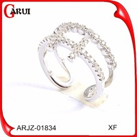 Vogue jewelry wedding rings 925 sun silver ring diamond engagement ring