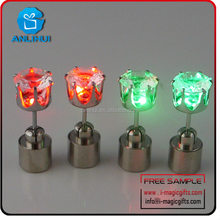 New colorful different shapes led flashing earrings for teenagers