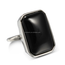 China factory wholesale stainless steel fashion agate ring design for men
