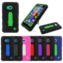 2015 new arrival Armor Hybrid Gel Phone Case For Lumia 640 Cover Kickstand Double Layer Accessory Case