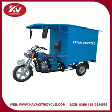 Wholesale powerful 150cc air-cooled work tricycle with blue closed cargo box