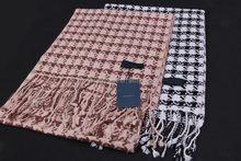 double hand knit dogtooth print magic pattern cashmere scarf