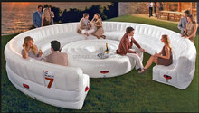 Inflatable sofa and inflatable table for advertising
