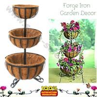 Decorative Wrought Iron 3 Tier Planter