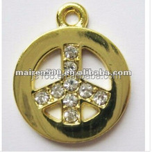 free shipping fashion alloy gold bead pendant charm
