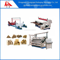 Carton packing machinery DW1600 Single Face Corrugated Machine Maker