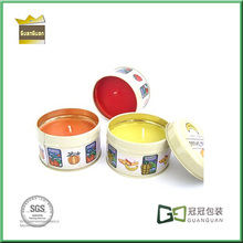 popular colorful round candle box