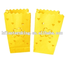 luminary lantern grass green paper candle bags for supply wedding party