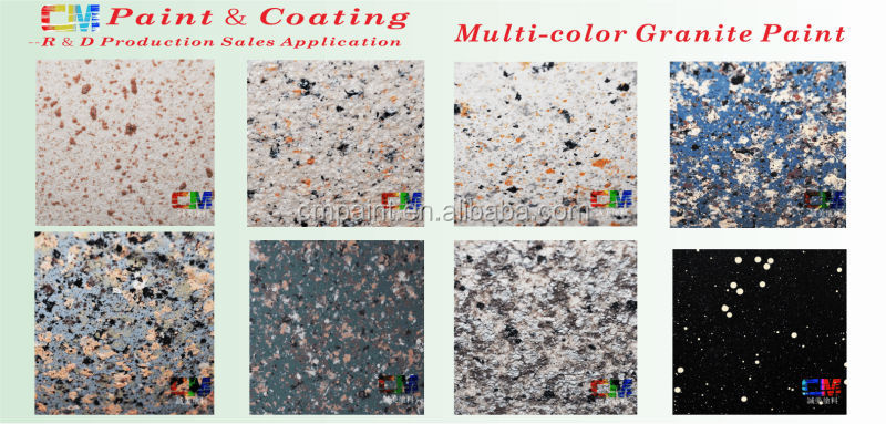 Water Based Spray Paint Granite texture Paint In Building Coating
