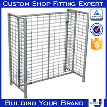 OEM ODM Powder coated Iron Clothing shop 4-sides display stand