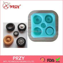 Przy fondant de silicone molde / decoração do bolo do silicone moldes de pneus molde de silicone