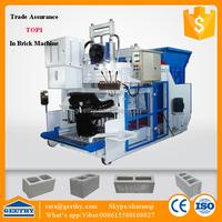 QMY18-15 concrete flyash foam brick machine/hollow building material making machinery parts