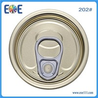 202 Tinplate Round empty easy open can ends for canned foods