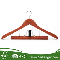 LH012 Premium Clothing, Suit/Apparel Wood Hangers w/ Bar