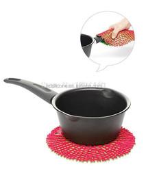 kitchen accessories / bbq gloves / cotton fabric / silicone gloves