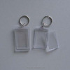 2014 creative style rectangle blank acrylic key chain with frame promotional