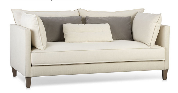 Modern simple designs white fabric chesterfield sofa set for Design sofa replica