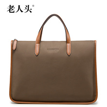 Laorentou Alibaba China Brown Mens Leather Briefcase Handbag Male Fashion Bags Tote Bag