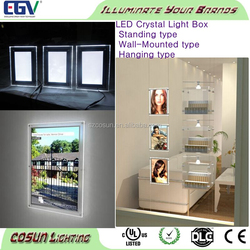 Acrylic led lighting photo frame desktop / acrylic sheet photo picture frames