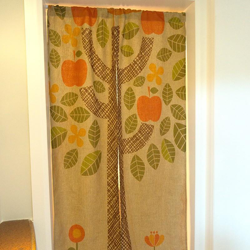 creatieve appel bomen patroon decoratief gordijn deur gordijn huis ...