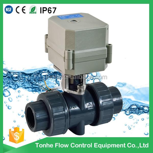 PVC electric actuator ball valve-DN15