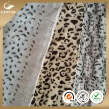 Polyester Embossed Bamboo Brushed PV Plush Fabric