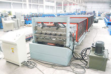 double layer roll forming machine hydraulic cutting / corrugated and IBR R panel