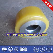 Rubber roller polyurethane coaster wheels for sale