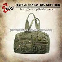 2012 Green Canvas Vintage Handbag For Girls