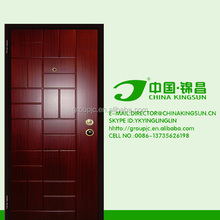 Popular exterior steel security modern stainless steel door with handle