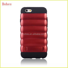 2015 new prodocts nice luxury pc&tpu stand mobile phone case for iphone6