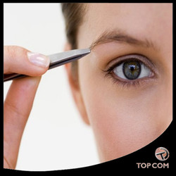 Professional Slant Tip Tweezer - Tweezees Precision Stainless Steel Tweezers - Extra Sharp Hair Removal Tool