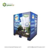 custom quarter cardboard pallet dispaly dump bins for electronic tools