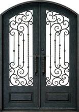 Eyebrow Top Wrought Iron Doors - SE-GD019