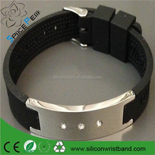 custom cheap Power Energy Hologram Bracelets Wristbands Keep Balances Ion Magnetic Therapy Fashion Silicone Bands