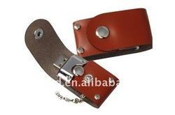 Red Leather USB Flash Drive1gb 2gb 4GB 8GB 16GB 32GB keychain Pendrive 32GB flash Memory stick Pen Drive