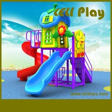 LL-O07 Hottest High Quality Children Outdoor Plastic Slides