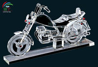 crystal model gift engraved crystal motorcycle