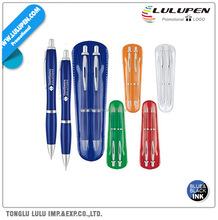 Bold Color Curvaceous Promotional Pen + Promotional Pencil Set (Lu-Q46962)