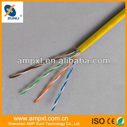 High Speed Ethernet Cable Yellow CAT 5e 1000 Feet Made In China