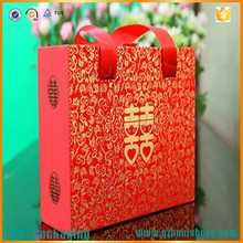 Eco-friendly creative cardboard paper food box takeaway food box red wedding favor boxes